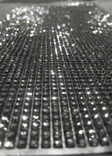 Silver Adhesive Backed Rhinestones 10x11 sheet