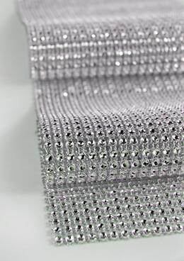 "Diamond Mesh Wrap 4.75"" (6.5ft roll)  Simulated Rhinestones"