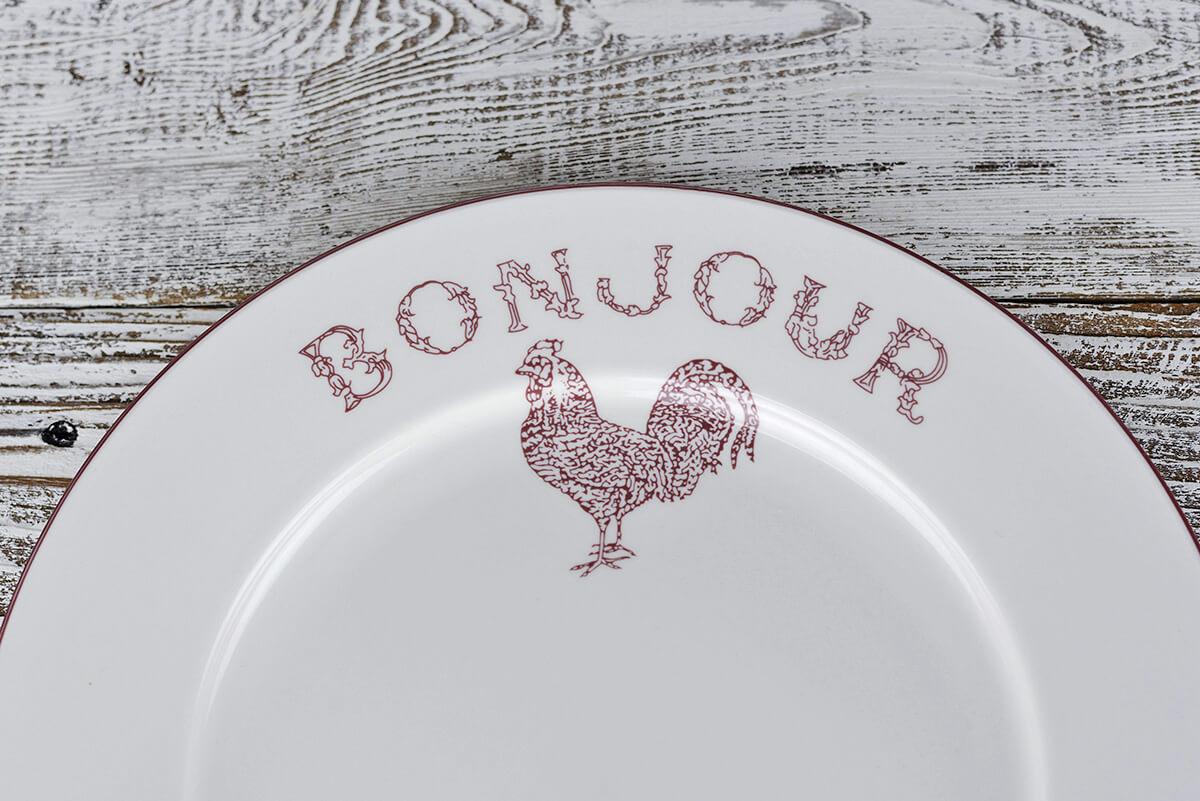 sc 1 st  Save on Crafts & 4 Red Bonjour Dinner Plates 10