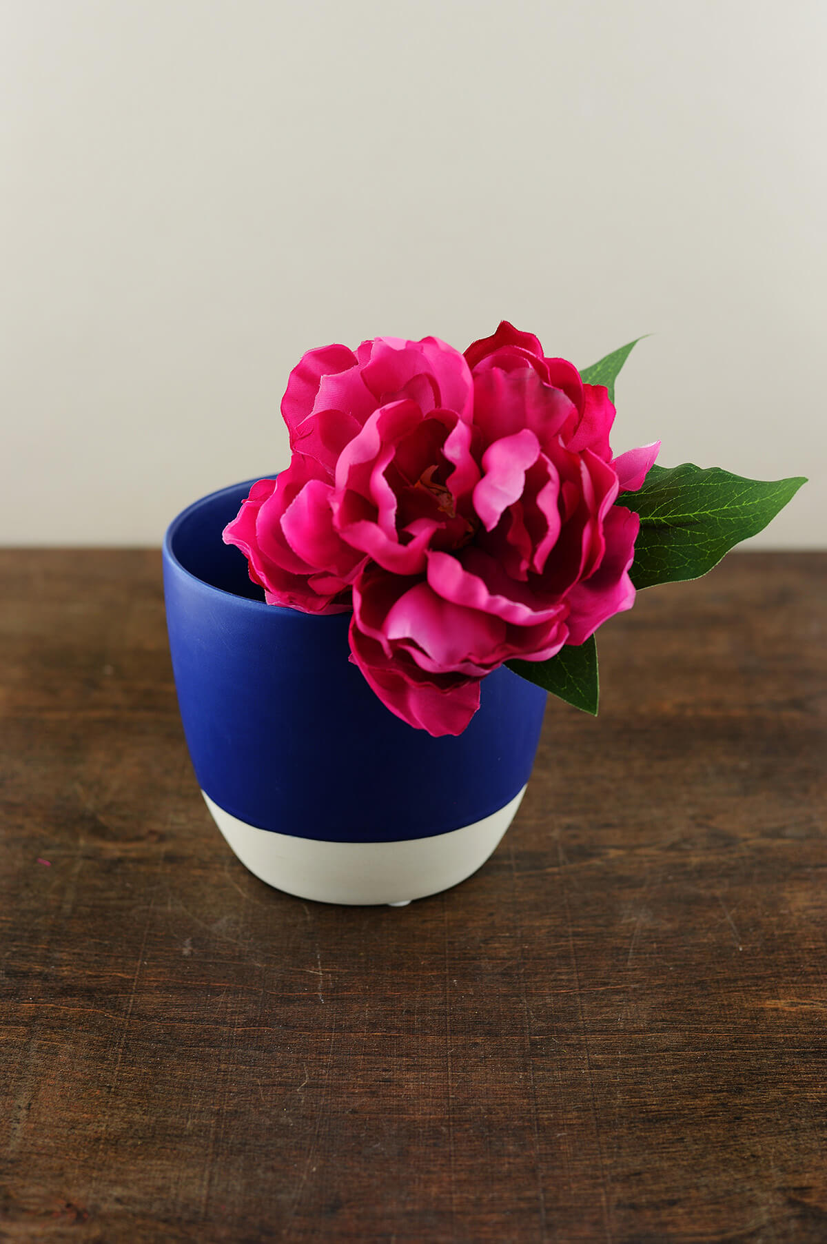 cobalt blue dip dyed ceramic flower pot 5 u0026quot