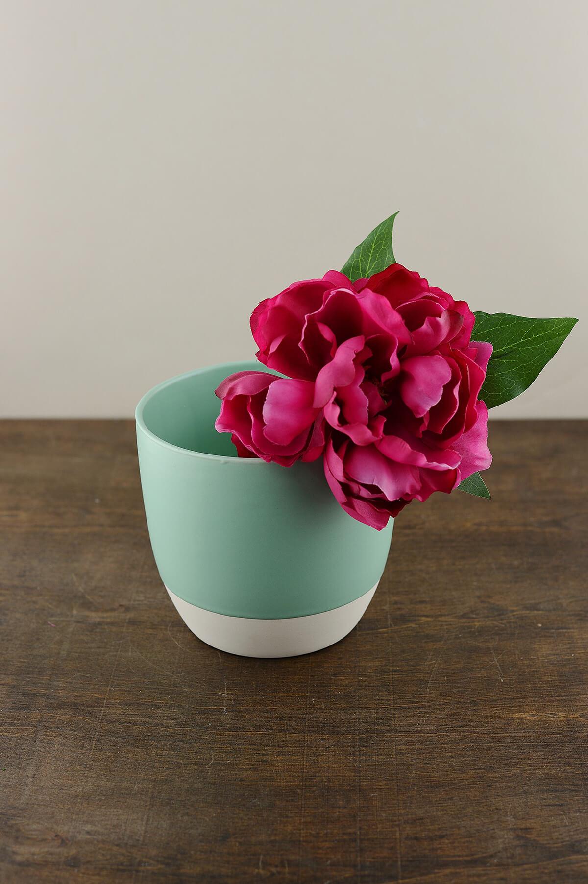 Bumble Ceramic Flower Pots 55 X 5 Aqua