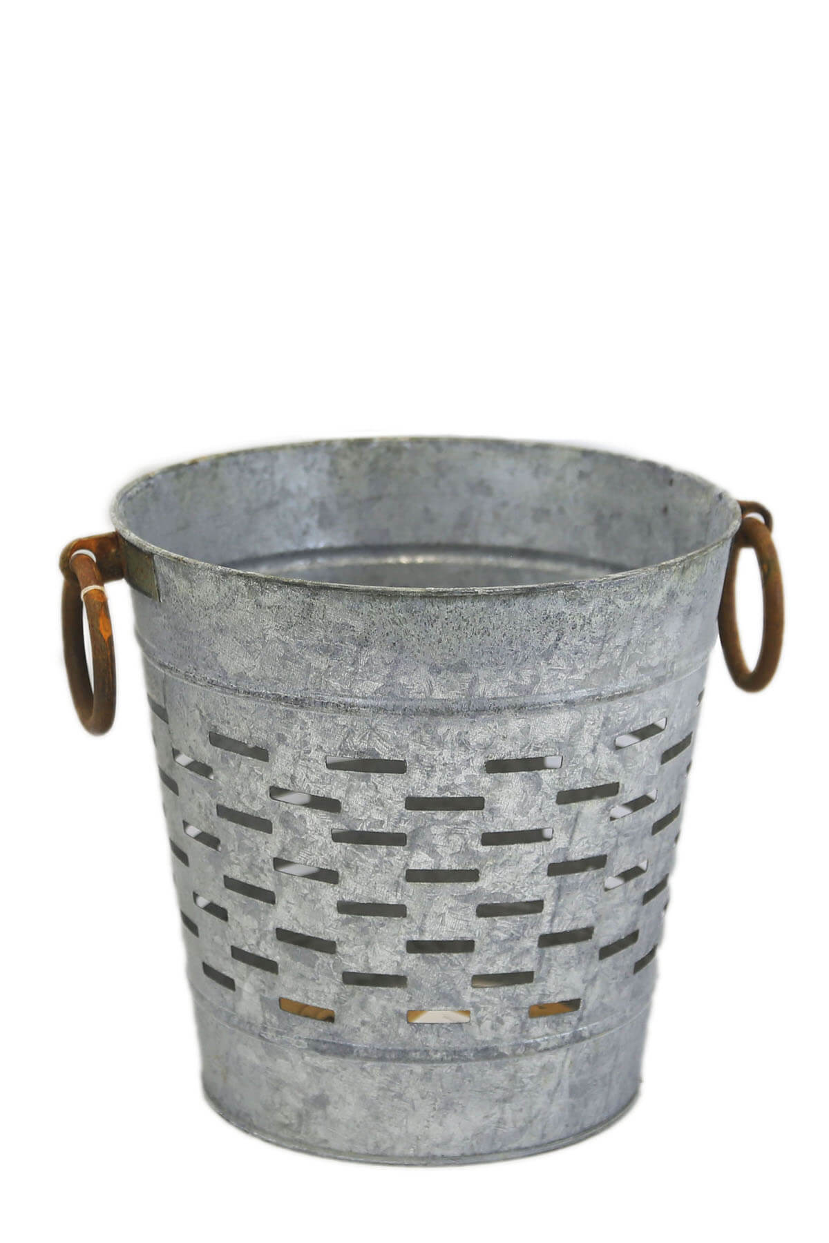 Tuscan 9 Quot Olive Bucket With Copper Ring Handles