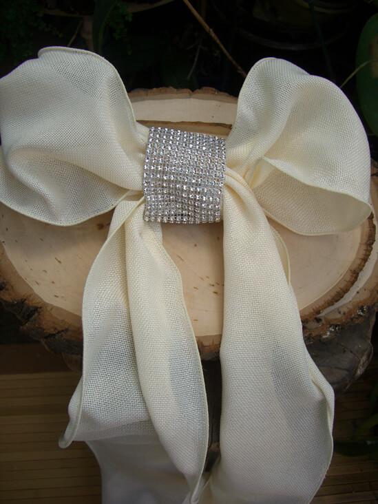 Diy Diamond Mesh Chair Sash Bands