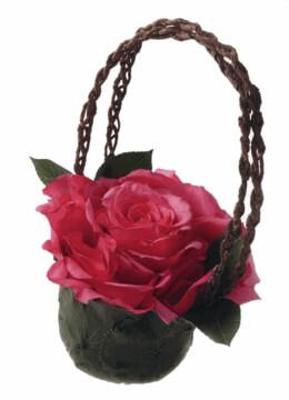 DIY:Making a  Grand Rose Satchel Basket