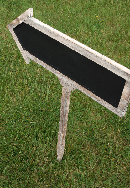 Double Sided Arrow Chalkboards w/Stake 21in