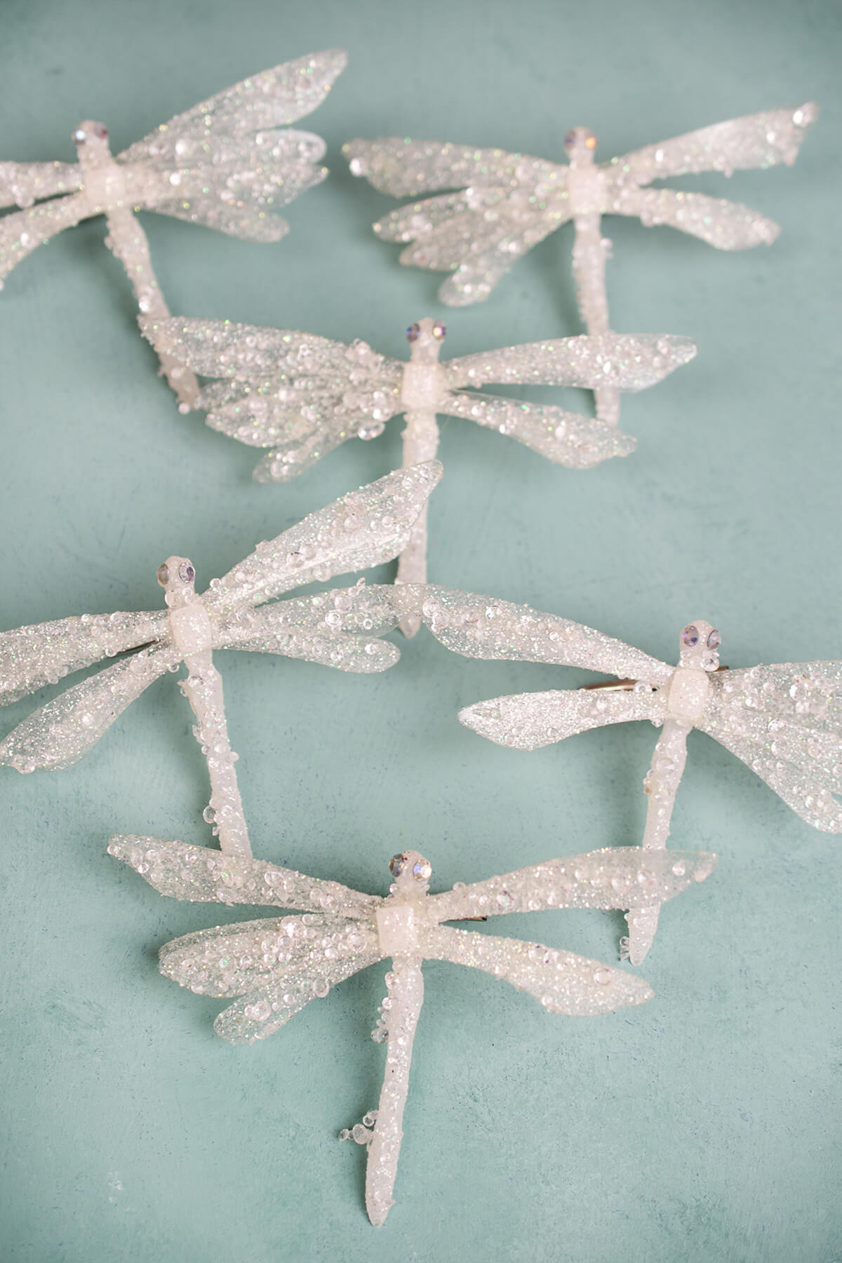 Iced Dragonfly 6 5in Set Of 6