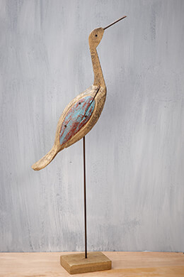 Hand-Carved Driftwood Crane 30in