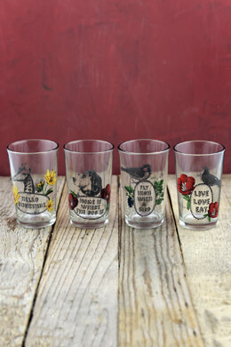 "4 -4""H Glass Juice Glasses"