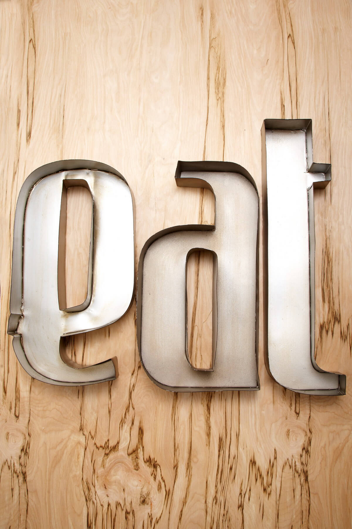 Eat Metal Wall Letters 20x17 Quot