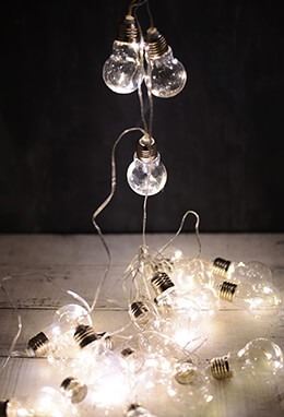 Edison Bulb LED String Lights 20ct - 9ft Clear Cord