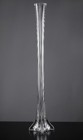 Eiffel Tower Vases Clear Glass 24""