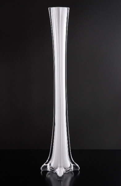 White Glass Eiffel Tower Vases 16 Quot