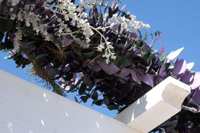 Natural Eucalyptus, Dusty Miller, Lavender Wedding Garland,  Handmade 8'