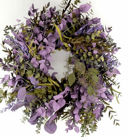 Preserved Eucalyptus Wreaths Lilac & Green 17in