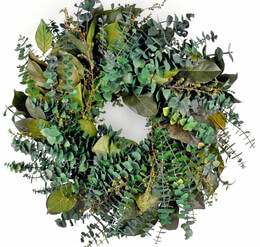 Preserved Green Eucalyptus Wreath 20in, Mountain Creek
