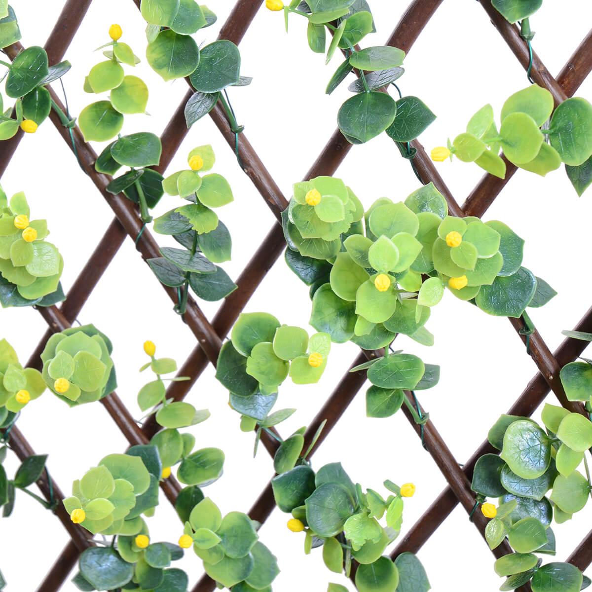 Berry Arbors: Expandable Trellis Ilex, Natural Willow & Yellow Berries