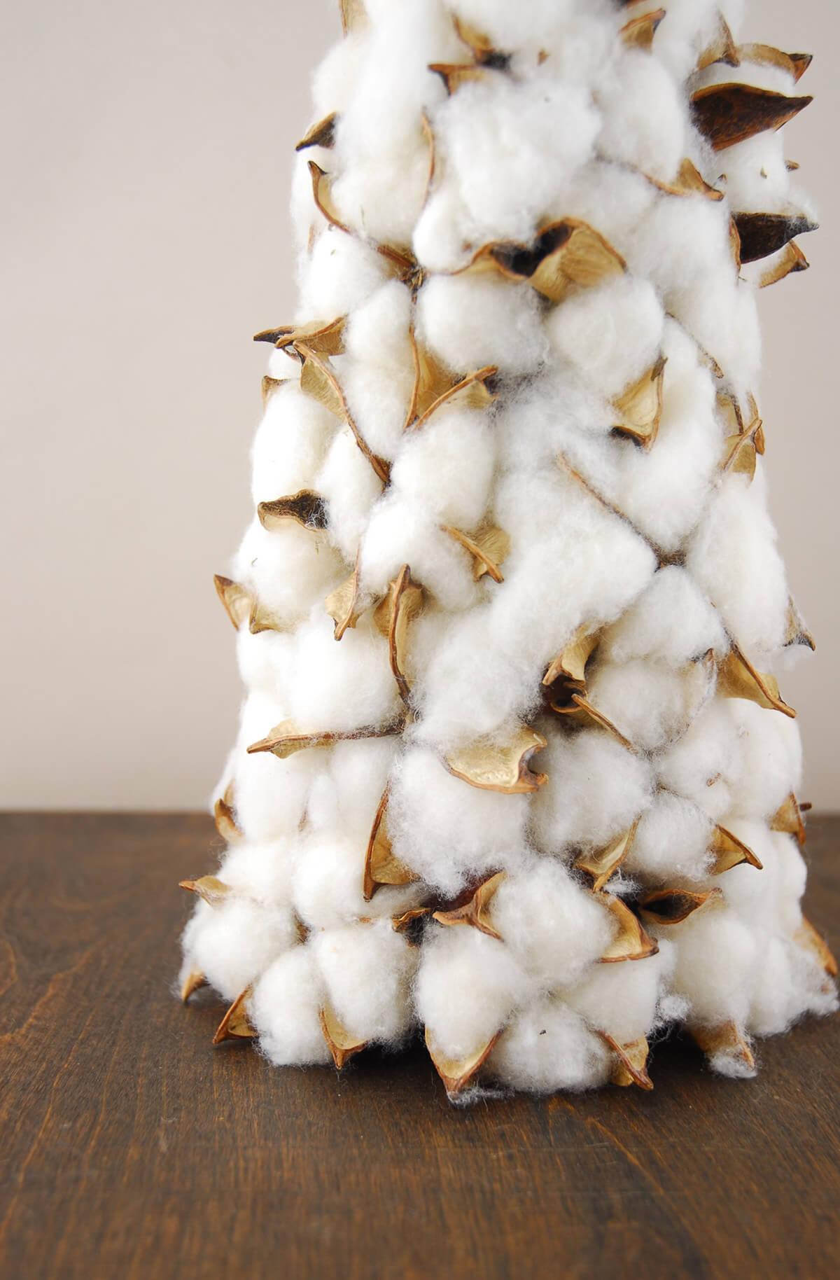 Faux Cotton Cone Small