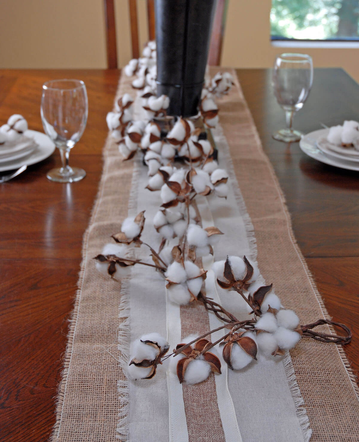 Faux Cotton Garland 6ft