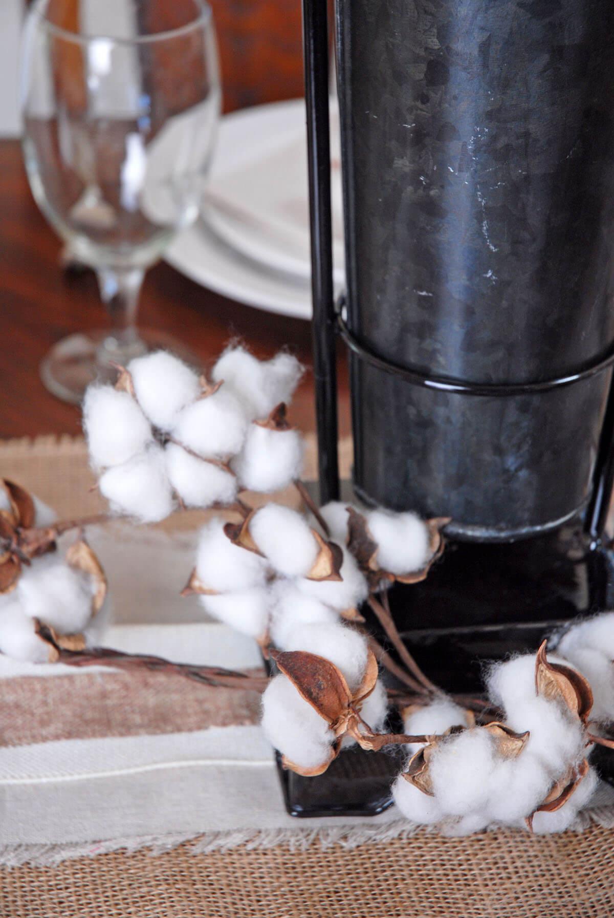 6' Faux Cotton Boll Garland