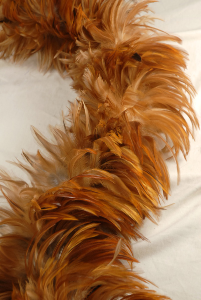 """Feather Boas 72"""" Natural Red Hackle 8"""" wide"""