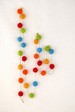 Felt Ball Garland Multi-color 5ft