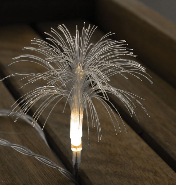 Fiber Optic Flare String Light Dual Color White & Warm White