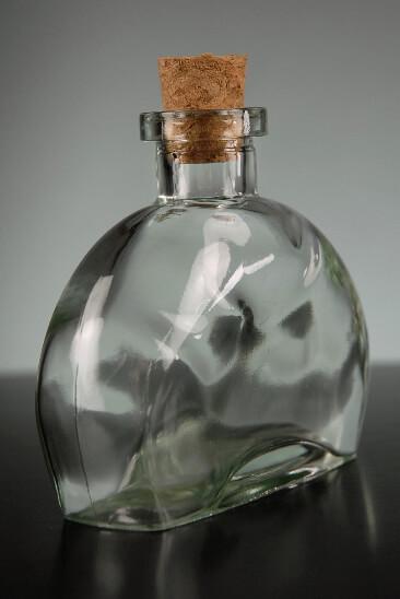 12 Fiji Clear Glass 4in Bottles 6oz