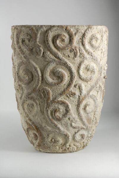 Stone Filigree Pot 13in