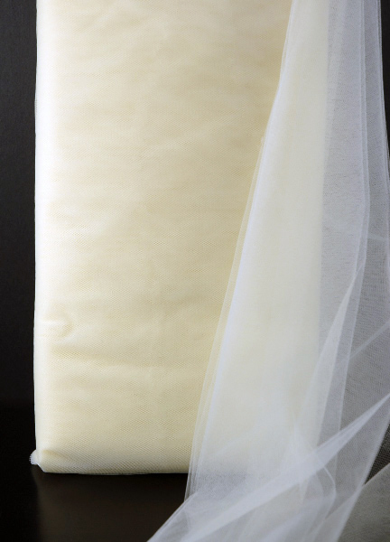 """Fine Ivory Tulle 40yd Bolt  54"""" wide"""