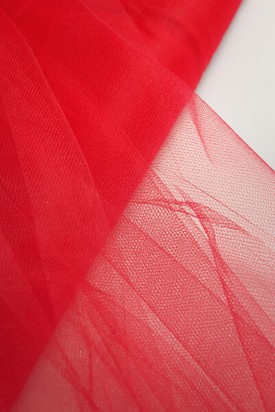 """54"""" Red Fine Tulle Bolt  40 yards"""