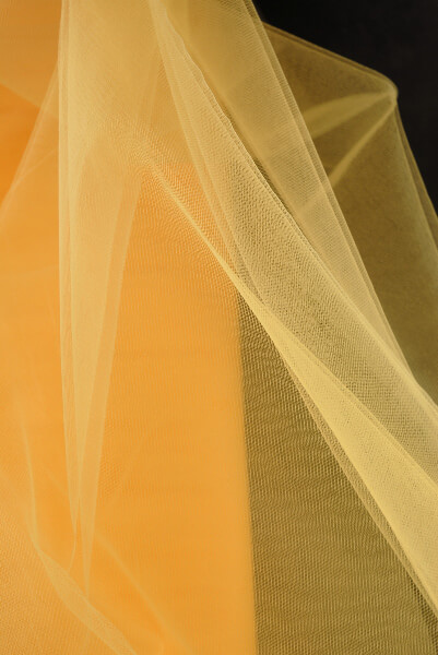 """54"""" Yellow Fine Tulle Bolt 40yds"""