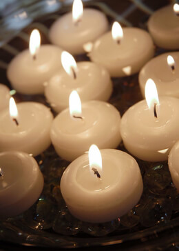 White Floating Candles 2 Inch (24 Candles)