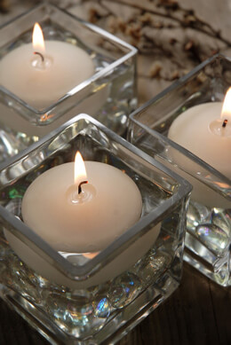 144 Ivory Floating Candles