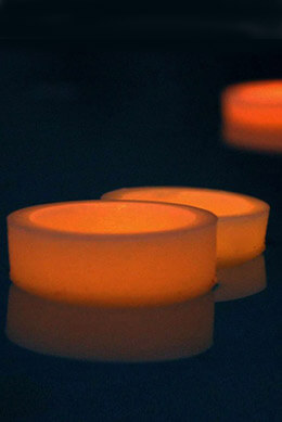 "Floating Reusable Ivory 4"" Wax Luminary"