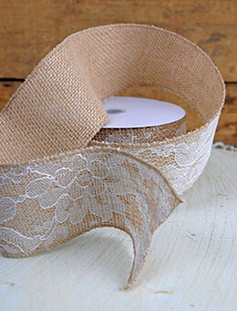 Floral Lace Applique Ribbon 2.5in x 10yd