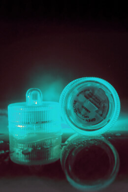 10 Floralytes Teal Green LED Submersible  Floral Lights