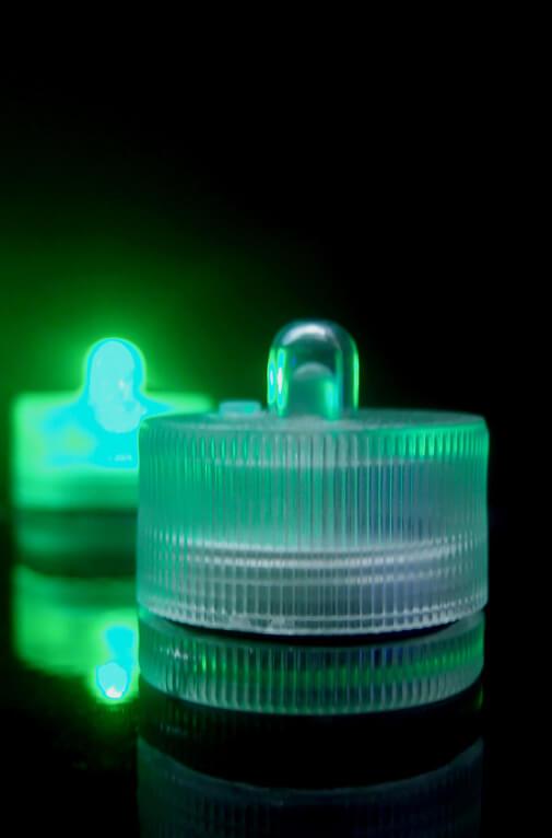10 Green Floralytes I Submersibe LED Light