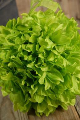 Flower Ball Green Silk 6in