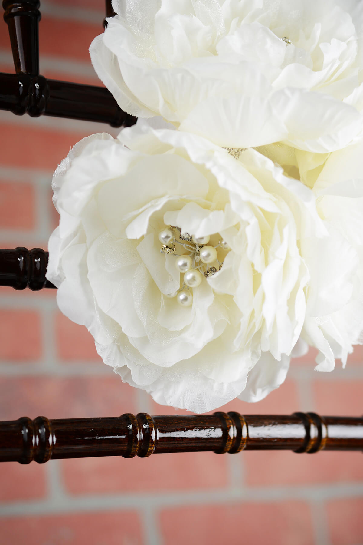 Bridal Flower Cluster with Diamond Accents Wedding Decoration