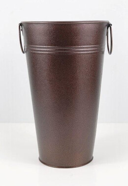 "Brown Flower Market 10-3/4"" Bucket"