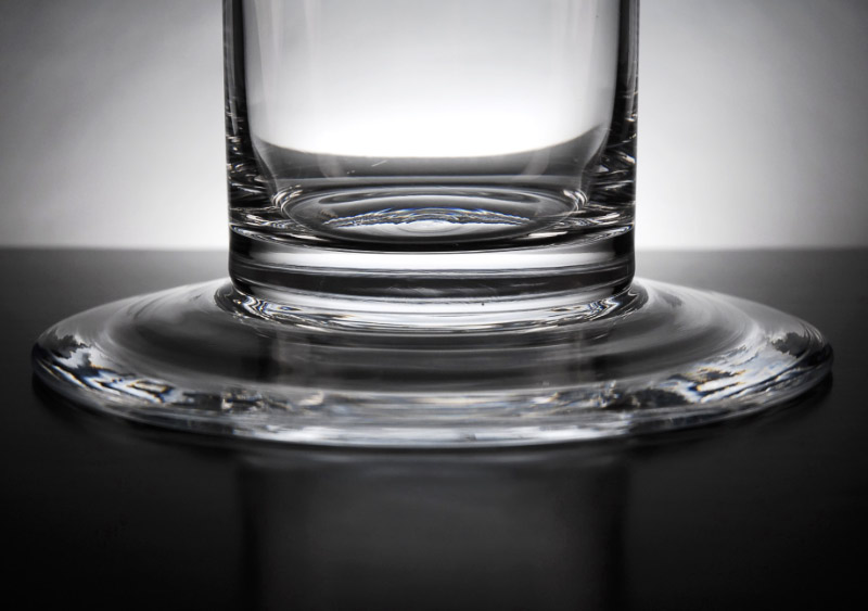 Cityscape Vase 4 x 20  Clear Glass