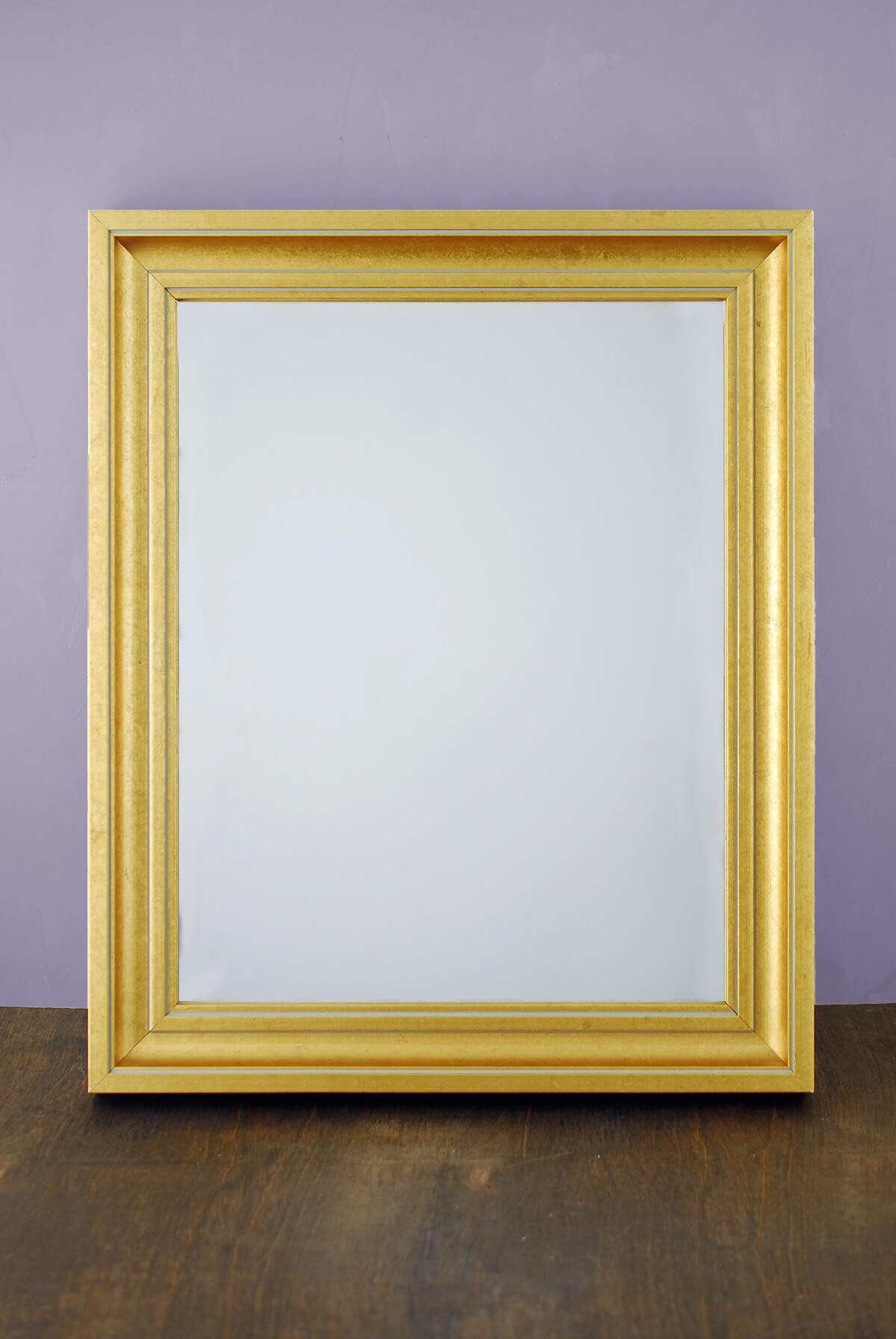 Framed mirror gold for 11x14 table top frame