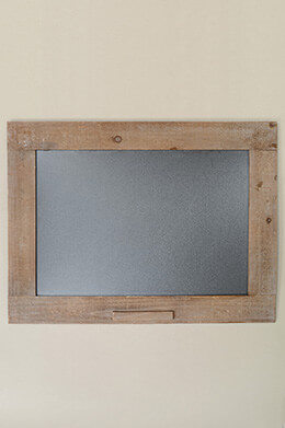 "Framed Wooden Blackboard 24"" x 18"""