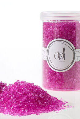 Crushed Glass 2-4mm, 46oz, Hot Pink Vase Fillers