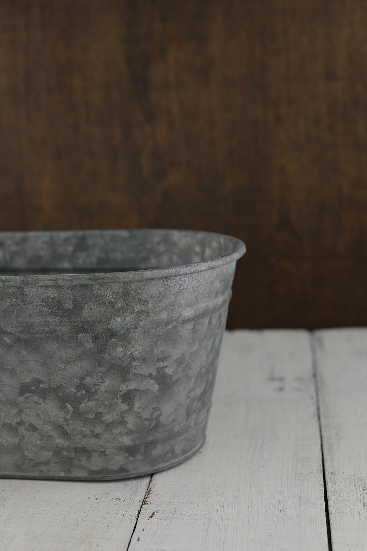 Galvanized Bucket Oval 12 5in