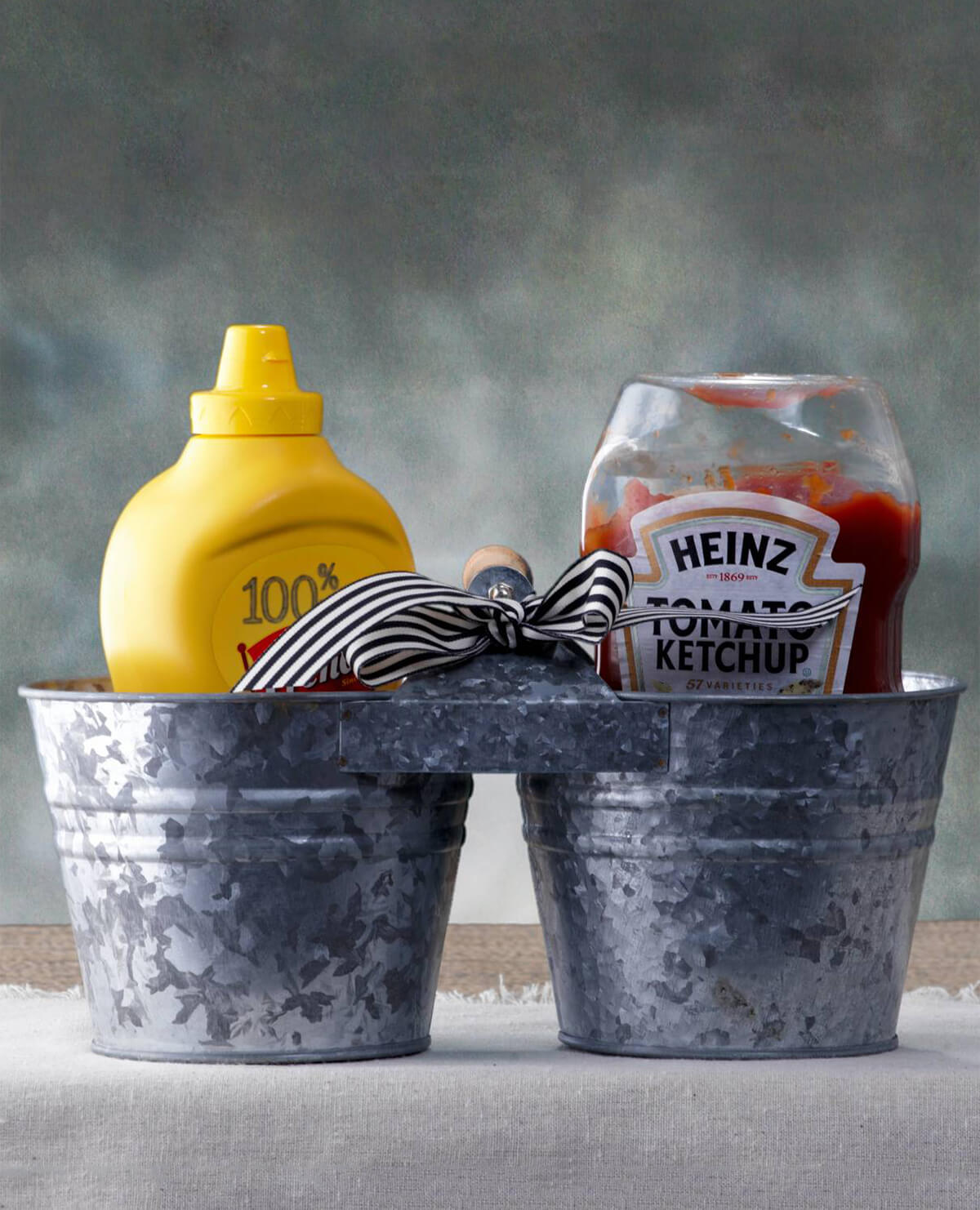 Double Bucket Small Condiment Holder