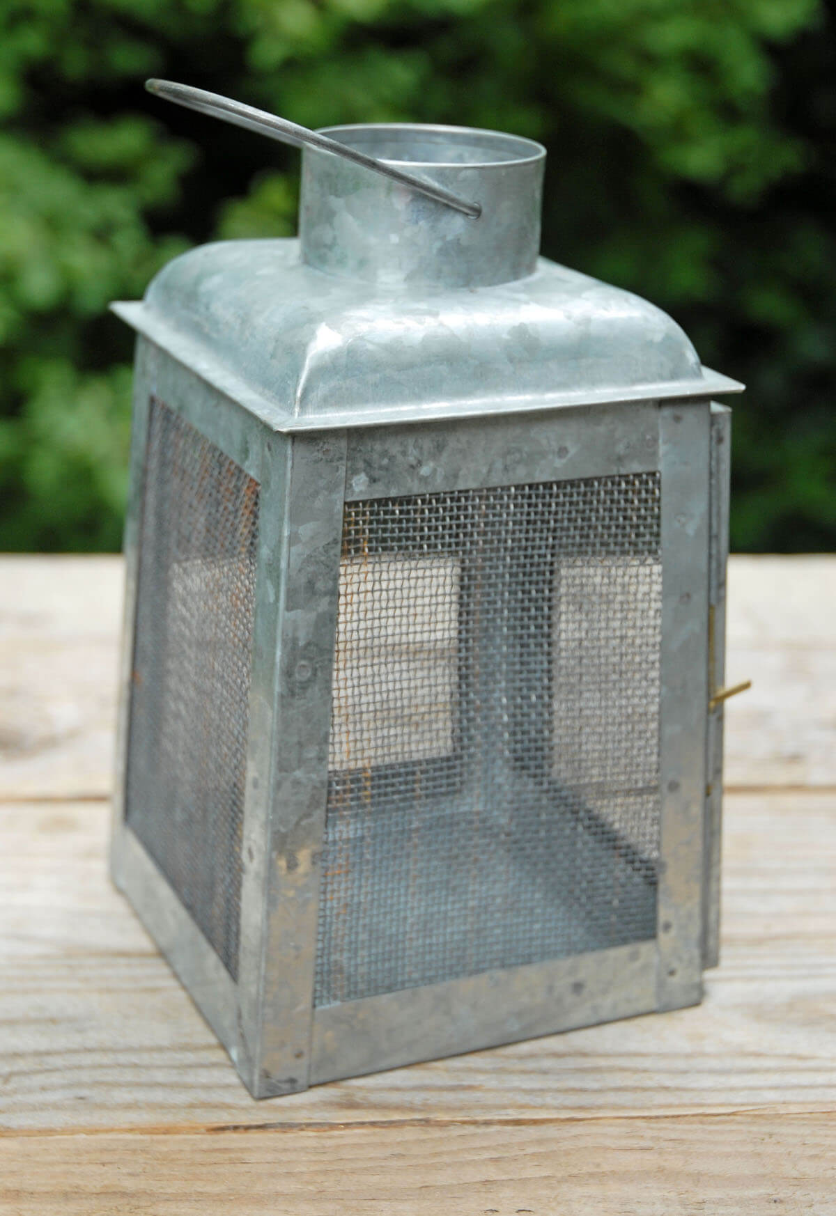 Chicken Wire Galvanized Metal Candle Lanterns