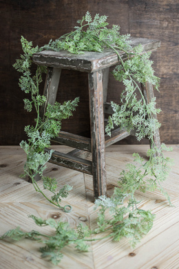 Artificial Dusty Miller Garland 5' Frosted Green