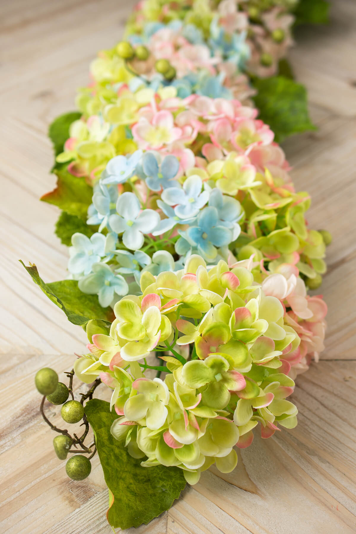 Silk flowers sprays leis bouquets saveoncrafts garland hydrangea 4ft mixed pastels dhlflorist Choice Image
