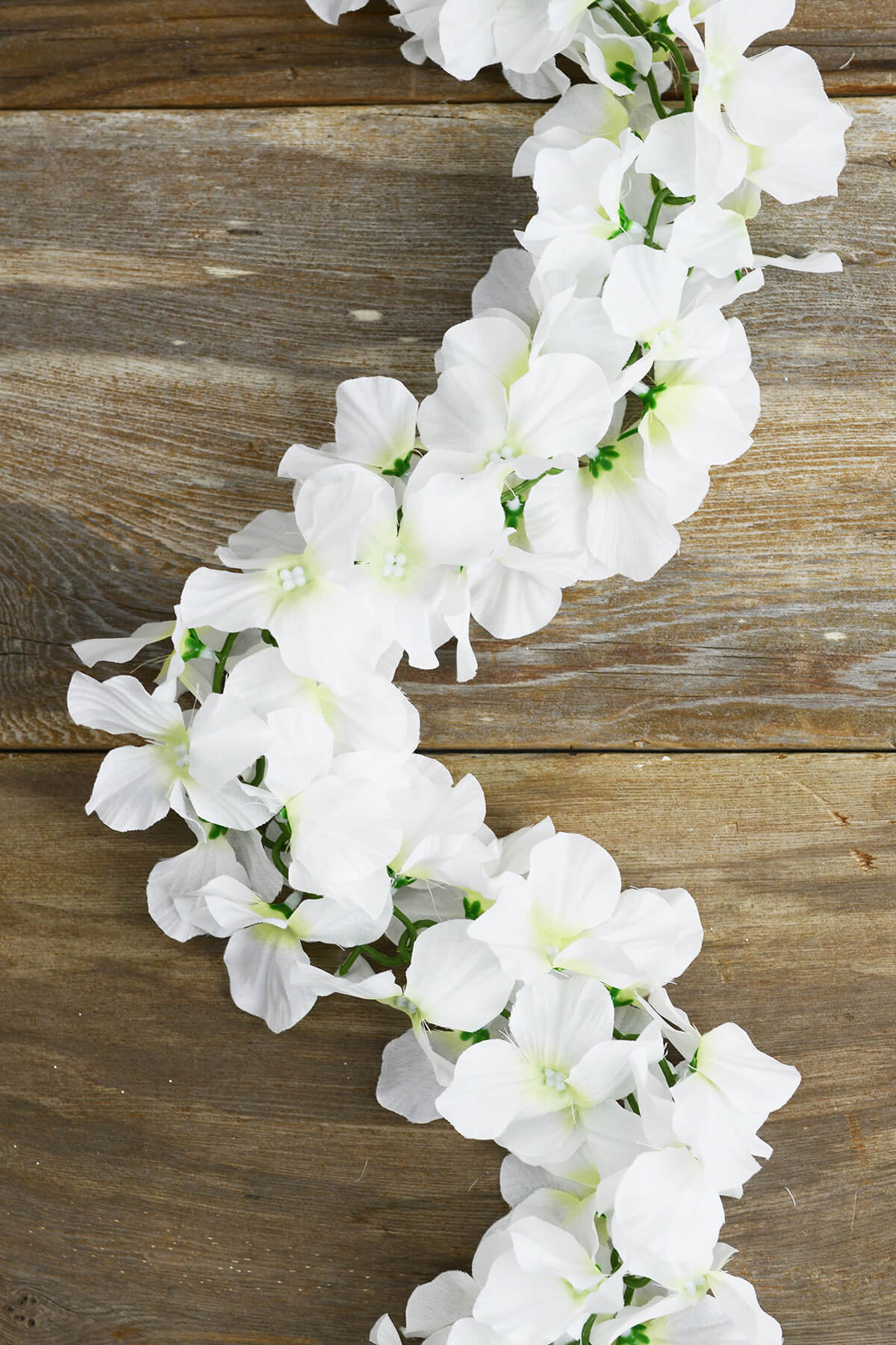 Hydrangeas flowers dried preserved silk white silk hydrangea chained garland mightylinksfo